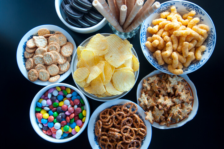 processed foods that are colourful