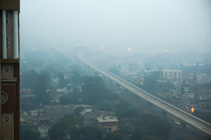 polluted indian city