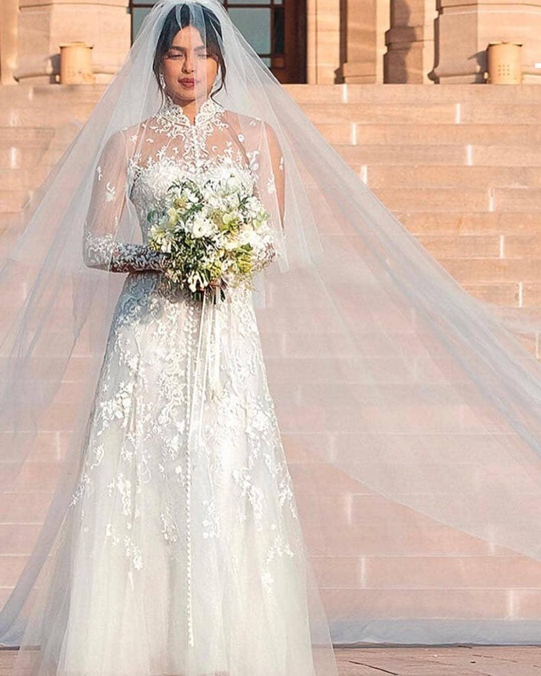Priyanka Wedding White Gown