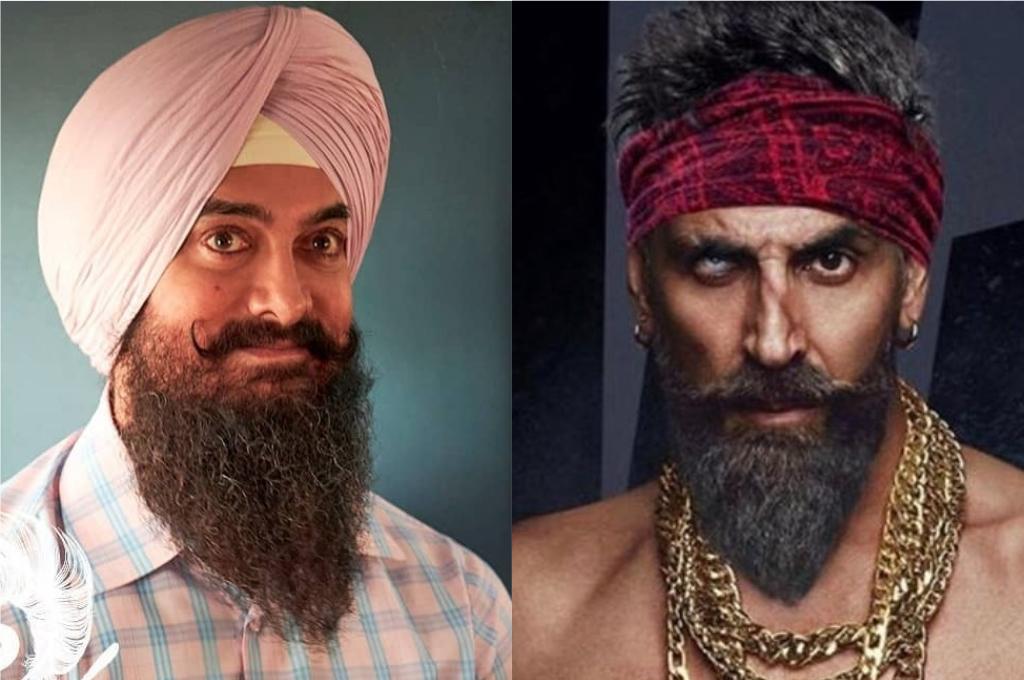 Image result for 1. Akshay Kumar (Bachchan Pandey) - Aamir Khan (Laal Singh Chaddha)